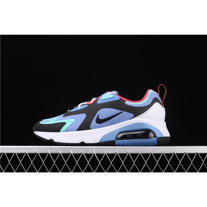 Men's & Women's Nike Air Max 200 AQ2568 401 sky blue black