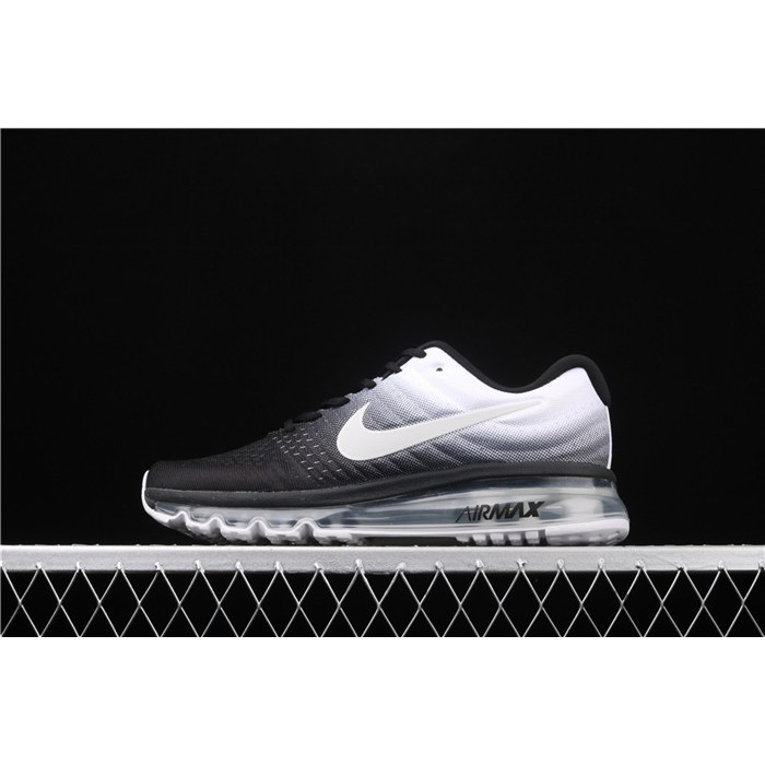 Men's & Women's Nike Air Max 2017 849559 010 white black