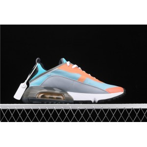 Men's & Women's Nike Air Max 2090 CQ7630 400 sky blue orange