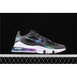 Men's & Women's Nike Air Max 270 React 20 CT5064 001 black colours logo