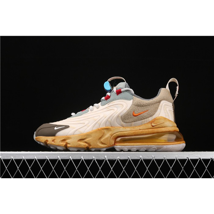 Men's & Women's Travis Scott x Nike Air Max 270 React TS CT2864 200 taupe