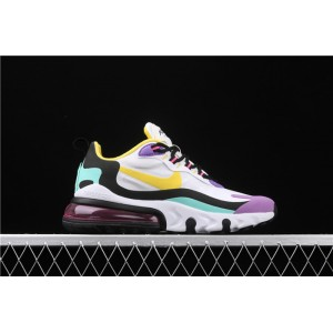 Women's Nike Air Max 270 React AT6174 101 black yellow