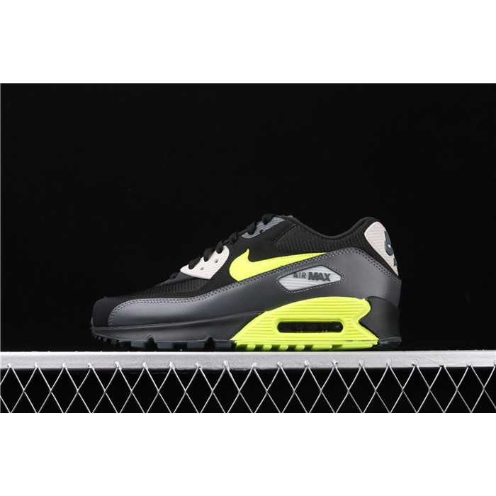 Men's Nike Air Max 90 Essential AJ1285 015 black fluorescent green