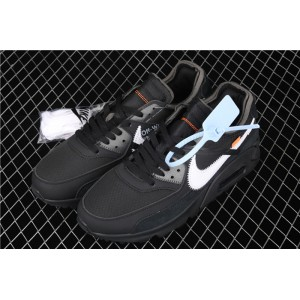 Men's & Women's Off White x Nike Air Max 90 OW AA7293 001 black