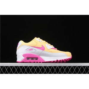Women's Nike Air Max 90 325213 702 Rose Red yellow
