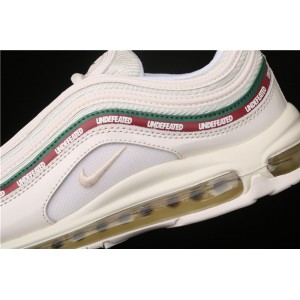 Men's & Women's Nike Air Max 97 Undefeated AJ1986 100 white green red