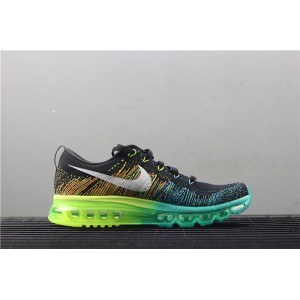 Men's Nike Air Max Flyknit 620469 001 blue green